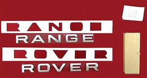 titanium silver tailgate lettering for range rover sport With range rover replacement letters