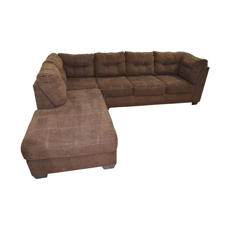 l shaped sectional sofa 64 off brown l shaped chaise sectional sofa sofas