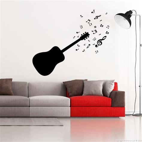 sticker guitare et notes de musique stickers musique