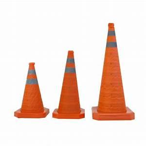 Cone De Chantier : c ne de chantier rouge 3 hauteurs bandes r fl chissantes ~ Edinachiropracticcenter.com Idées de Décoration