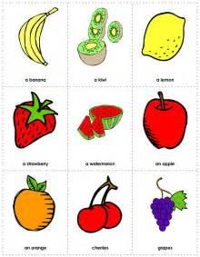 free printable fruit flashcards flash cards