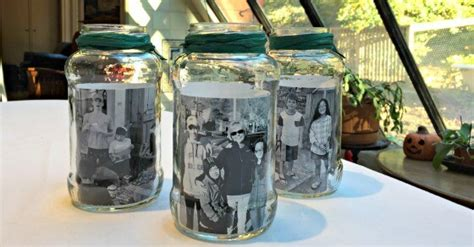 mason jar photo centerpieces momof