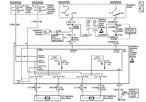 2000 Corvette Turn Signal Wiring Diagram by Left Headlight Motor Has Wireing Issues Need Help