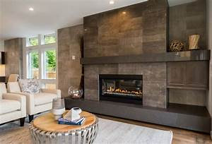Tile around fireplace ideas tile design ideas for Stylish options for fireplace tile ideas