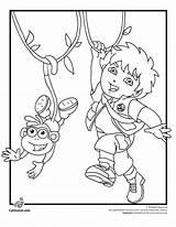Coloring Dora Diego Pages Boots Explorer Cartoon Go Jr Cartoons Printable Birthday Colouring Cake Jaguar Print Et Sheets Baby Cakes sketch template