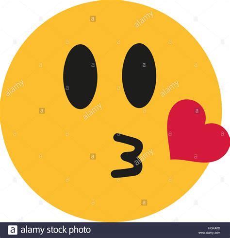 Kuss Smiley Mit Herz Stockfoto, Bild