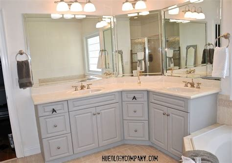 chalk paint techniques for cabinets bathroom cabinets painted with paris grey chalk paint and