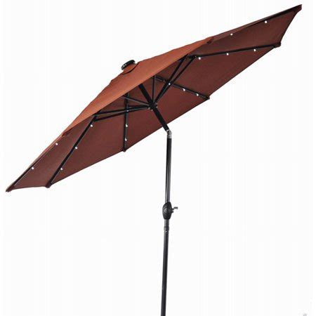 umbrella with solar lights better homes and gardens 9 umbrella with solar