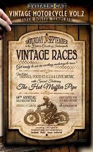 Graphicriver Vintage Motorcycle Flyer  Poster Vol 2