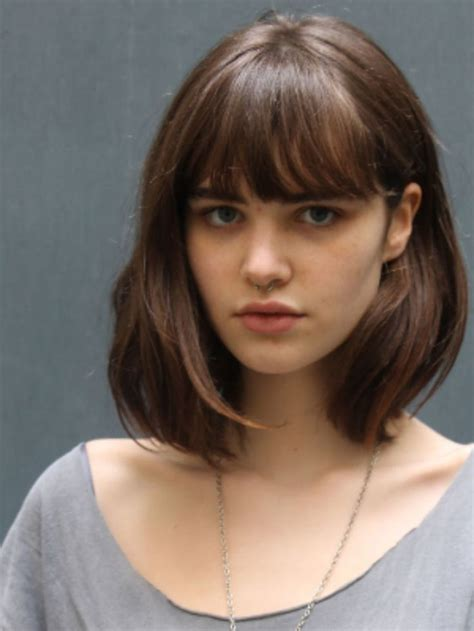 image result for lob with bangs hair haircuts with