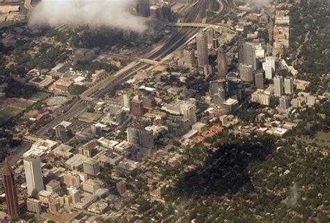 Atlanta Ga Aerial View Of A Section Of Downtown Atlanta