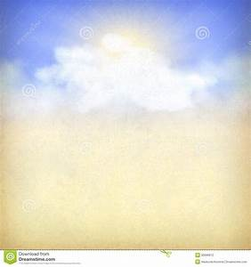 Blue Sky Background With White Clouds And Sun Stock ...
