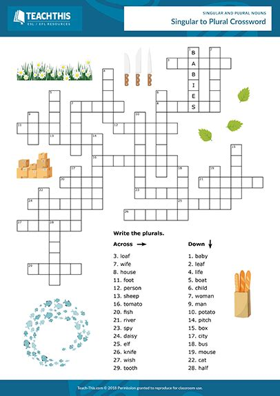 singular plural nouns games esl activities worksheets