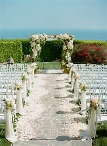 wedding ceremony ideas romantic decoration With outdoor wedding ceremony decorations