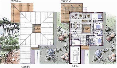 plan maison 6 chambres maison ossature bois de plain pied 146 m 3 chambres