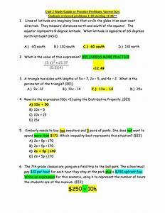 Unit 2 Study Guide Answer Key