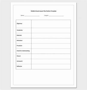 lesson plan outline template 23 examples formats and With outline of a lesson plan template
