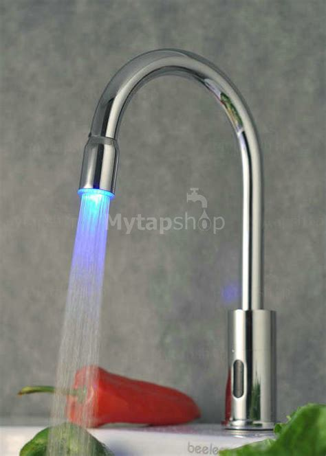 contemporary sensor tap automatic touchless chrome led
