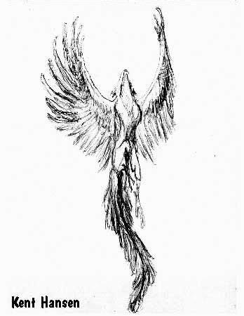Awesome Grey Flying Phoenix Tattoo Design | Phoenix tattoo design, Forearm tattoos, Tattoo designs