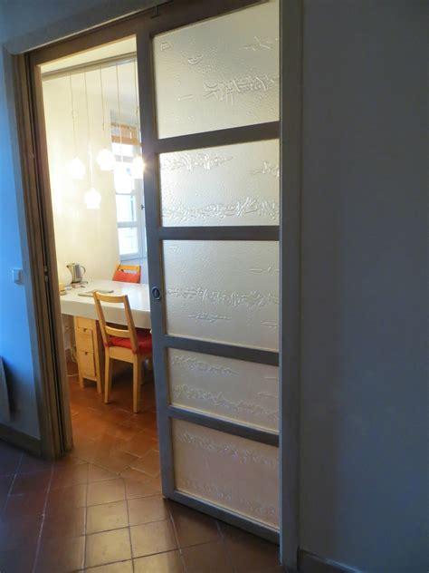 verre pour porte de cuisine porte coulissante