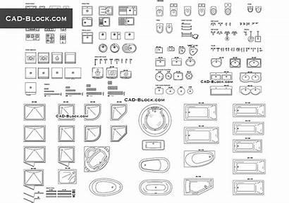 Kitchen Bathroom Cad Plans Block Symbol Autocad