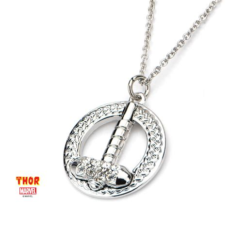 cos shop marvel thor hammer w gem chain with pendant