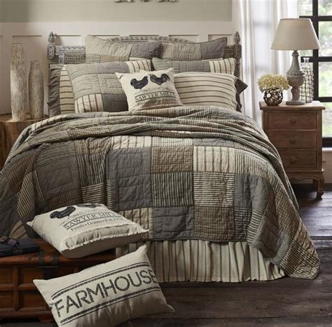 sawyer mill charcoal  sized luxury king quilt