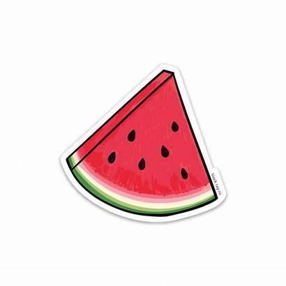 Sticker Watermelon Stickers Sandia Blank Outline Summer
