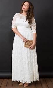 plus size illusion lace wedding dress kiyonna clothing With wedding dresses for plus size ladies
