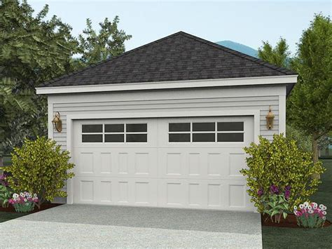 Detached 2-car Garage Design #062g