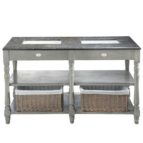 chaises cuisine blanches meuble vasque en bouleau et marbre gris l 156 cm