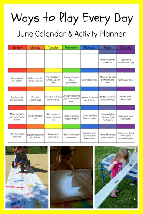 ways to play every day june activity calendar for 667 | june preschool activity calendar printable