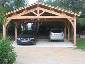 Abri Voiture En Bois : comment fabriquer un carport en bois ~ Nature-et-papiers.com Idées de Décoration