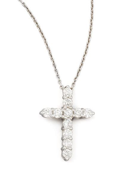 ruby 8 45ct roberto coin 18 quot white gold cross pendant necklace