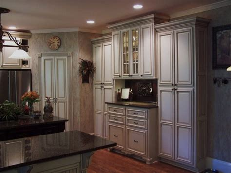 Painted And Glazed Kitchen Cabinets  Traditional