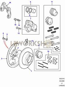 Rear Brake Calipers And Discs - Without Abs