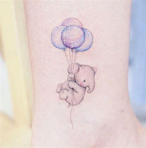 baby elephant balloons tattoo tatuajes de elefantes