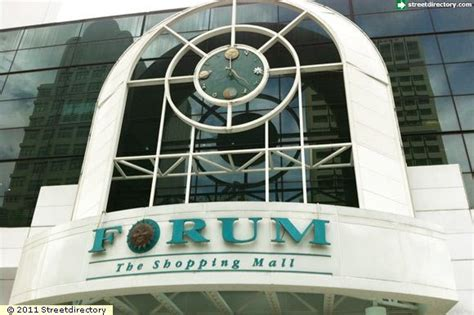 signage of forum the shopping mall building image singapore