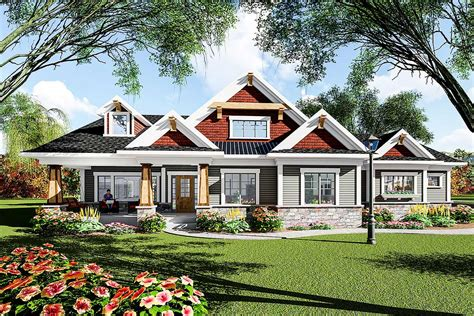 eye catching craftsman ranch house plan ah architectural designs house plans
