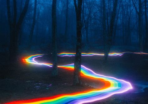 rainbow road roams river bends  rocky creeks