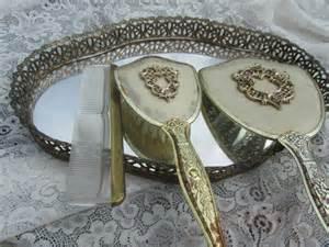 Vanity Tray Sets by Vintage Vanity Set Mirror Tray Vintage Hand Mirror Hair