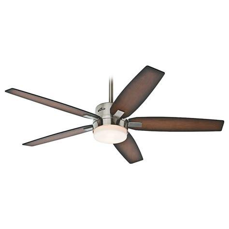 hunter fan light bulbs hunter fan company windemere brushed nickel ceiling fan