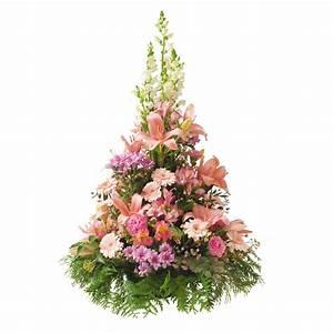 Bouquet De Fleurs Interflora : coupe conique traditionnel lys muflier interflora ~ Melissatoandfro.com Idées de Décoration