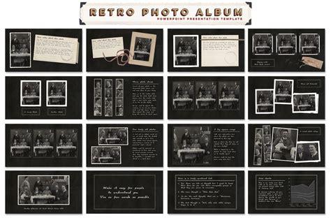 retro photo album  template  templates