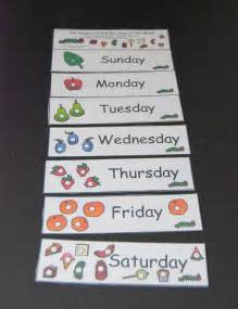 Hungry Caterpillar Printable Days of the Week