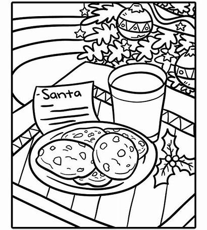 Coloring Santa Pages Cookies Printable Holiday Parents