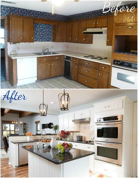 Kitchen Before And After by Small Kitchen Renovations Before And After Before And