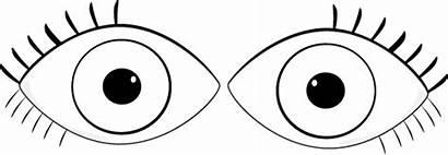 Eyes Eye Clip Clipart Outline Eyeball Pair