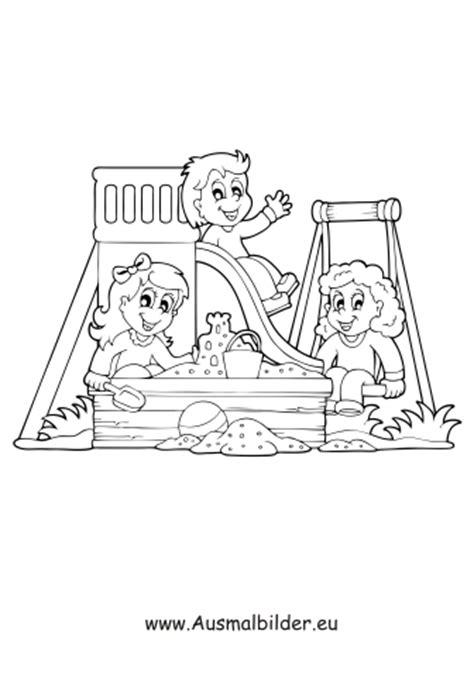 ausmalbilder kinder  spielplatz spielsachen