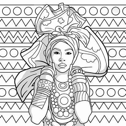 African Coloring Negra Consciencia Desenhos Mermaid Colorir
